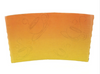 10 - 24 OZ. PAPER HOT CUP SLEEVE, ORANGE INK - 1,000 PCS/CS - CarryOut Supplies