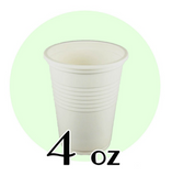 04 OZ BIODEGRADABLE DRINKING CUPS, BEIGE - 1,000 / CS