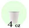 04 OZ PAPER DRINKING CUPS, WHITE - 1,000 / CS - CarryOut Supplies