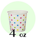 04 OZ PAPER DRINKING CUPS, Polka Dot Rainbow - 1,000 / CS