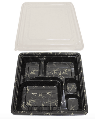 SUSHI BENTO BOXES VS - 31 21 (L) X 21 (W) X 4.2 CM (H) - 300 PCS/CS - (Item: 65002) - CarryOut Supplies