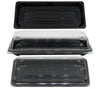 MH-06 SUSHI CONTAINERS 500 SET PET CLEAR LID BLK TRAY (item: 65021) - CarryOut Supplies
