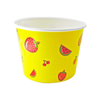 16 OZ. PAPER YOGURT CUPS, YELLOW FRUIT PATTERN - 1,000 PCS/CS - CarryOut Supplies
