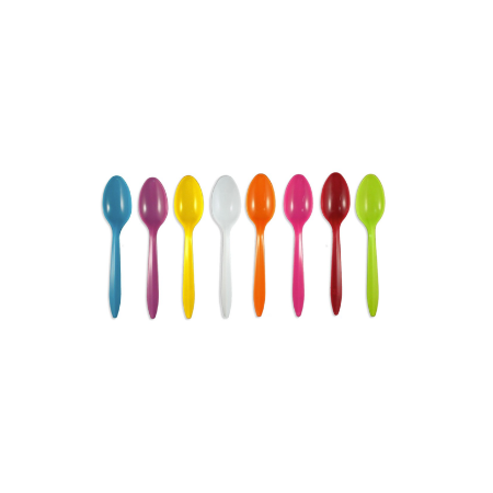 PLASTIC MEDIUM WEIGHT SPOONS | ASSORTED COLORS | CARRYOUTSUPPLIES.COM - (Item: 1211)