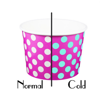 16 OZ. PAPER YOGURT CUPS, COLOR CHANGING CONTRAST PINK - 1,000 PCS / CS - (Item: 21614) - CarryOut Supplies