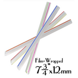 "PLASTIC 7.75""X12MM CLEAR W/STRIPES BOBA STRAWS, FILM-WRAPPED, ASSORTED COLORS - 2,000 PCS / CS - (Item: 129288)"