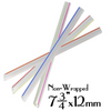 "PLASTIC 7.75""X12MM CLEAR W/STRIPES BOBA STRAWS, NON-WRAPPED, ASSORTED COLORS - 2,000 PCS - (Item: 129289) - CarryOut Supplies"