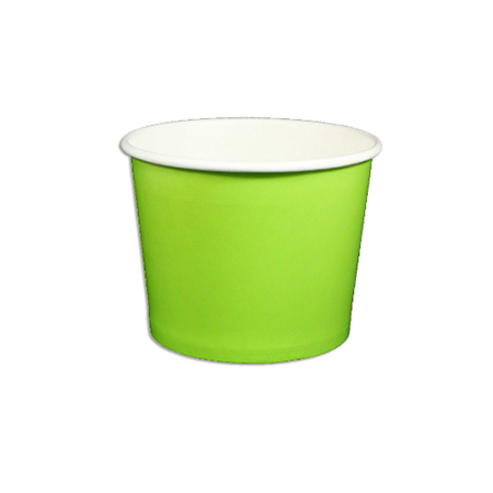 12 OZ.  PAPER YOGURT CUPS 1000 PCS/CS - GREEN