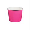 12 OZ.  PAPER YOGURT CUPS 1000 PCS/CS - PINK - CarryOut Supplies