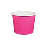 12 OZ.  PAPER YOGURT CUPS 1000 PCS/CS - PINK