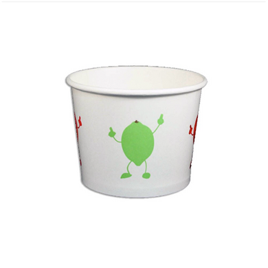 12 OZ. PAPER YOGURT CUPS, DANCING FRUIT - 1,000 PCS/CS - (Item: 22786) - CarryOut Supplies