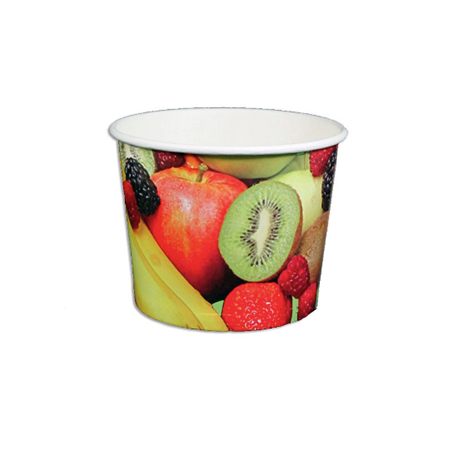 12 OZ. PAPER YOGURT CUPS, REAL FRUIT - 1,000 / CS - (Item: 22785) - CarryOut Supplies