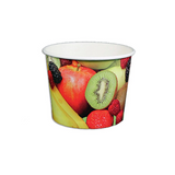 12 OZ. PAPER YOGURT CUPS, REAL FRUIT - 1,000 / CS - (Item: 22785)