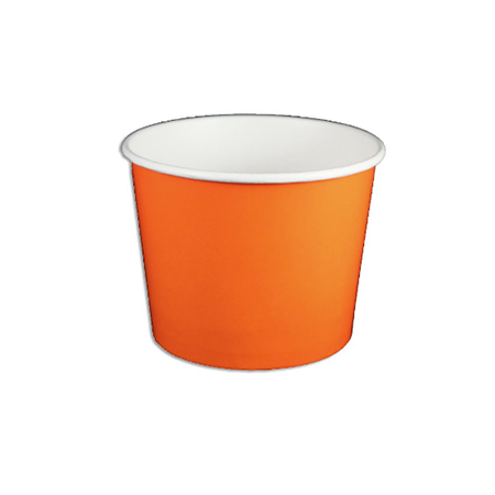 12 OZ. PAPER YOGURT CUPS, SOLID COLOR ORANGE - 1,000 / CS - (Item: 22789) - CarryOut Supplies