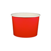 16 OZ. PAPER YOGURT CUPS 1000 PCS/CS - RED - CarryOut Supplies