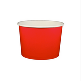 16 OZ. PAPER YOGURT CUPS 1000 PCS/CS - RED