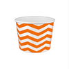 16 OZ. PAPER YOGURT CUPS, CHEVRON PRINT ORANGE - 1,000 / CS - (Item: 21684) - CarryOut Supplies