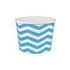 16 OZ. PAPER YOGURT CUPS, CHEVRON PRINT BLUE - 1,000 / CS - (Item: 21681) - CarryOut Supplies