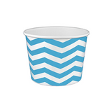 16 OZ. PAPER YOGURT CUPS, CHEVRON PRINT BLUE - 1,000 / CS - (Item: 21681)