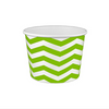 16 OZ. PAPER YOGURT CUPS, CHEVRON PRINT LIME GREEN - 1,000 / CS - (Item: 21683) - CarryOut Supplies