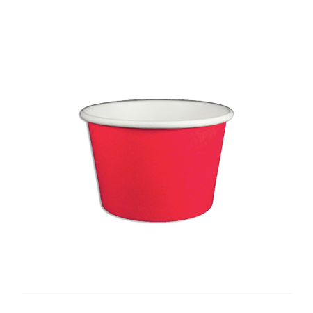 12 OZ. PAPER YOGURT CUP - SOLID RED - 1,000 / CS - (Item: 21245) - CarryOut Supplies