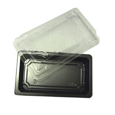 SQUARE PLATE (BLACK) | Take Out - Food Containers | Carryoutsupplies.com - CarryOut Supplies