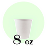 8 OZ. PAPER DRINKING CUPS, WHITE - 1,000 PCS/CS - (Item: 35080) - CarryOut Supplies