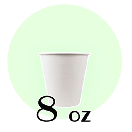 8 OZ. PAPER DRINKING CUPS, WHITE - 1,000 PCS/CS - (Item: 35080)