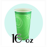 16 OZ PAPER SODA CUPS, RIPPLE GREEN - 1,000 / CS - (Item: D0716)