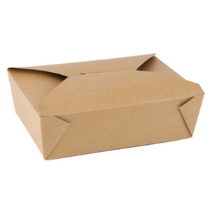 66 OZ. #3 PAPER E-PAK TAKE-OUT BOX, BROWN - 200 PCS/CS - (Item: 8003N) - CarryOut Supplies