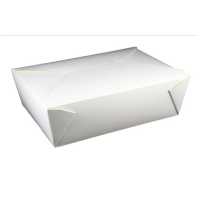 66OZ #3 PAPER E-PAK TAKE-OUT BOX, WHITE - 200 PCS/CS - (item code: 8003W) - CarryOut Supplies