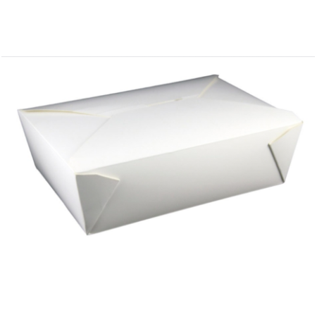 #3 PAPER E-PAK TAKE-OUT BOX, WHITE - 200 PCS/CS
