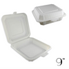 "9"" ECO-FRIENDLY CLAMSHELL 1-COMPT. TAKE-OUT BOX, BEIGE - 150 / CS - (Item: 5213) - CarryOut Supplies"