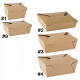 26 OZ. #1 PAPER E-PAK TAKE-OUT BOX, BROWN - 450 PCS/CS - (Item: 8001N)