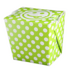 16 OZ PAPER POLKA DOT TAKE OUT BOX, GREEN - 400 / CS - (Item: 8016GRN) - CarryOut Supplies