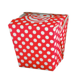 16 OZ PAPER POLKA DOT TAKE OUT BOX, RED - 400 / CS - (Item: 8016RED)