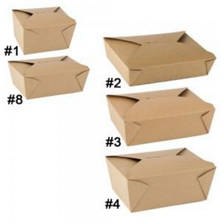 45 OZ. #8 PAPER E - PAK TAKE - OUT BOX, BROWN - 300 PCS/CS