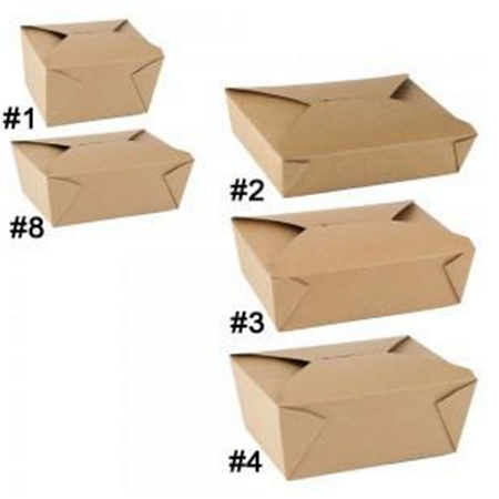 49 OZ. #2 PAPER E - PAK TAKE - OUT BOX, BROWN - 200 PCS/CS