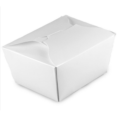 26 OZ. #1 PAPER E-PAK TAKE-OUT BOX, WHITE - 450 PCS/CS - (Item: 8001W) - CarryOut Supplies