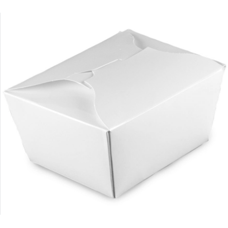 #1 PAPER E-PAK TAKE-OUT BOX, WHITE - 450 PCS/CS - (Item: 8001W)