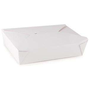 49 OZ. #2 PAPER E-PAK TAKE-OUT BOX, WHITE - 200 PCS/CS - (item code: 8002W) - CarryOut Supplies