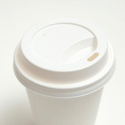 GSC COFFEE SIPPER LIDS 8 OZ. FOR PAPER HOT CUPS - 1000 PCS/CS (Item: HCLID-D80W) - CarryOut Supplies