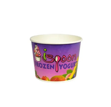 Custom Printed Paper Yogurt/Soup Cup - CarryOut Supplies