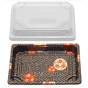 SUSHI CONTAINERS (165 X 114 X 17 MM) - 500 PCS/CS - (Item: YP-0.8) - CarryOut Supplies