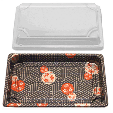 SUSHI CONTAINERS (216 X 135 X 17 MM) - 500 PCS/CS - (Item: YP-1.5) - CarryOut Supplies