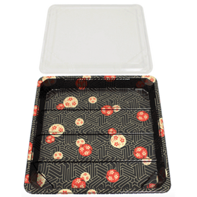 SUSHI CONTAINERS (265 X 265 X 27 MM) - 200 PCS/CS - (Item: YP-4.0) - CarryOut Supplies