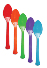 Load image into Gallery viewer, Heavy Duty 4G PP Plastic Dessert Spoon 1000pcs/cs - CarryOut Supplies