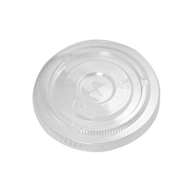 12-24 OZ (98MM) PLASTIC FLAT LIDS FOR PET CUPS, CLEAR - 1,000/CS - CarryOut Supplies