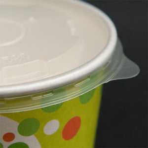 96mm Vented Flat Lids for Paper Yogurt Cups - CarryOut Supplies