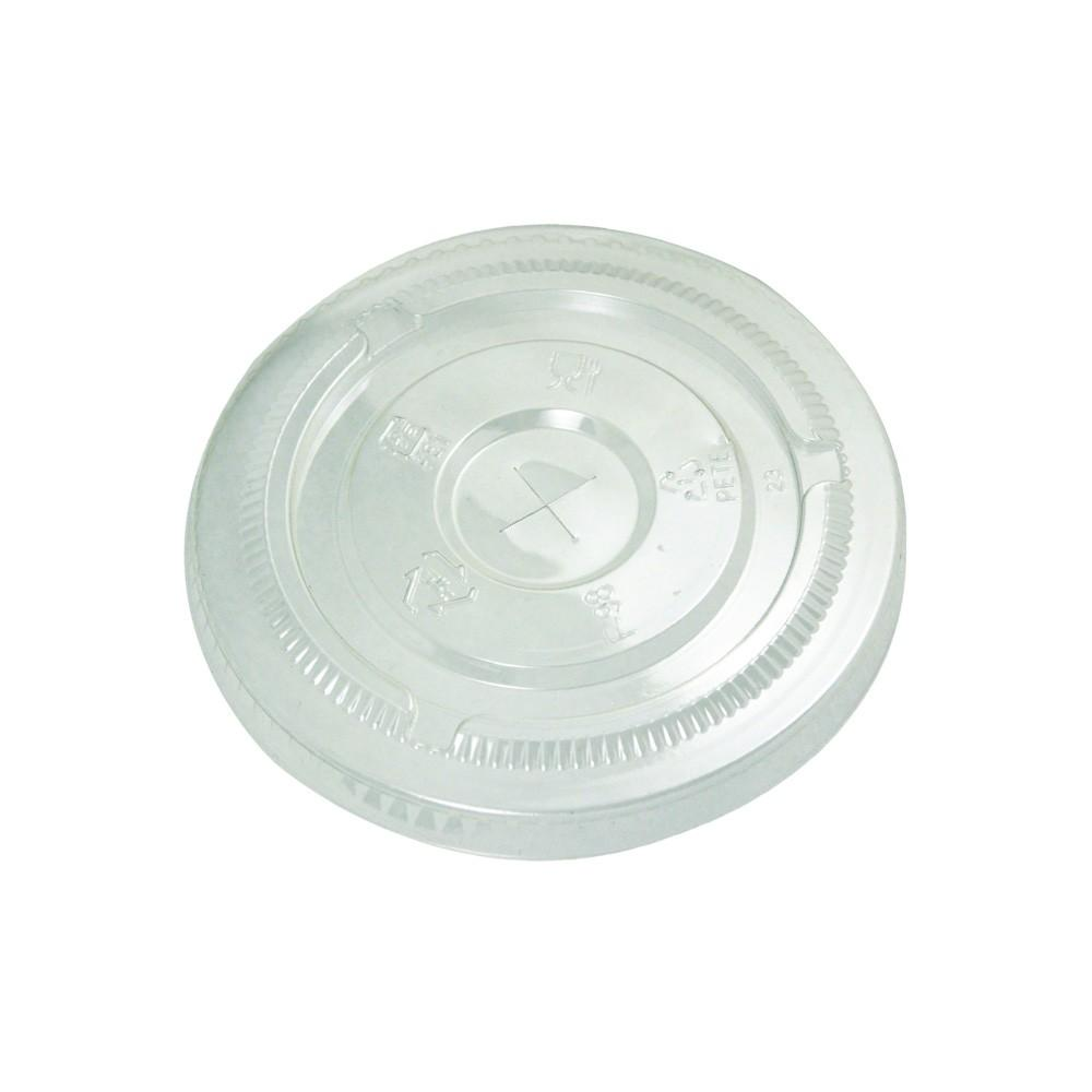 CLEAR PLASTIC FLAT LIDS FOR 95MM PET/PAPER CUPS- 1,000/CS - (item code: FL95) - CarryOut Supplies